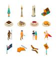 Australian Tourists Attraction Isometric Icons Set vector image