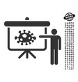 bacteria lecture icon with people bonus vector image
