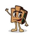 Brown cartoon purse vector image