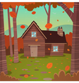 Cabin in woods vector image