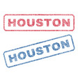 houston textile stamps vector image