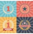 Laurel Wreaths Awards vector image