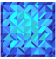 Mosaic blue square background vector image
