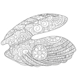 Oyster with pearl Coloring book for adults vector image