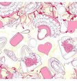 Seamless pattern with handbags and fashion vector image