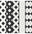 Set of geometric line monochrome lattice seamless vector image
