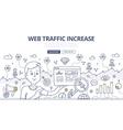 Web Traffic Doodle Concept vector image