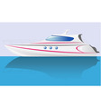 white speed yacht vector image