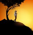 Trekking woman vector image