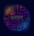 linear colorful geek vector image