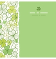 Clover line art square torn seamless pattern vector image
