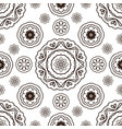 seamless pattern with floral ornament coloring vector image