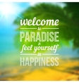 Blurred summer sea background with text design vector image vector image
