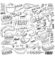 meat elements set vector image vector image