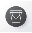 bucket icon symbol premium quality isolated pail vector image