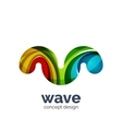 Business logo template - wave vector image