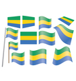flag of Gabon vector image