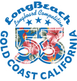 Long Beach Surfing vector image