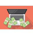 Making money online vector image