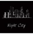 Night city skyline sketch vector image