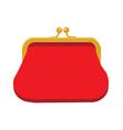 Red purse icon vector image