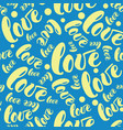 romantic love pattern background vector image