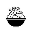 salad bowl icon black sign vector image