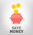 Save money vector image