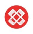 bandage medical isolated icon vector image