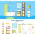 Interior Classic Bathroom and Elements Set vector image