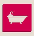 bathtub sign   grayscale vector image