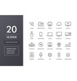 computer electronics line icons vector image