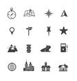 map icons set navigation vector image