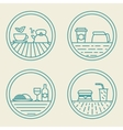 linear badge templates fast food concept in vector image