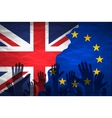 Brexit - Detail of Separated Silky Flags of vector image