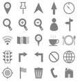 Map icons on white background vector image