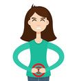 menstrual pain character girl vector image