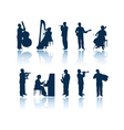 Musician silhouettes vector image