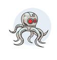robot octopus vector image
