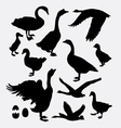 Duck poultry animal silhouette vector image