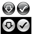 Black and white buttons vector image vector image