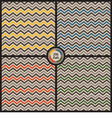 Zig Zag background set vector image vector image