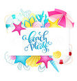 hand lettering summer phrase surrounded vector image