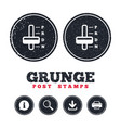automatic transmission sign icon auto control vector image