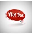 Hot deals icon vector image vector image
