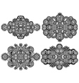 ornamental floral adornment for your design vector image vector image