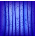 Curtain with pleats and ornaments vector image