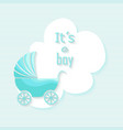 Baby shower boy invitation card design vector image