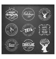 Christmas Badges and Labels in Vintage Style vector image