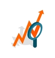 Magnifier and growth chart icon vector image